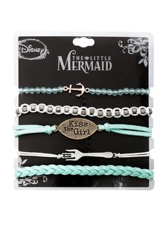 Disney The Little Mermaid Kiss The Girl Bracelet 5 Pack | Hot Topic. I want these so bad!!!