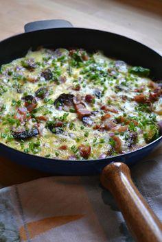 Ruusukaali-pekonimunakas Quiche, Risotto, Cauliflower, Cabbage, Breakfast, Ethnic Recipes, Food, Morning Coffee, Cauliflowers
