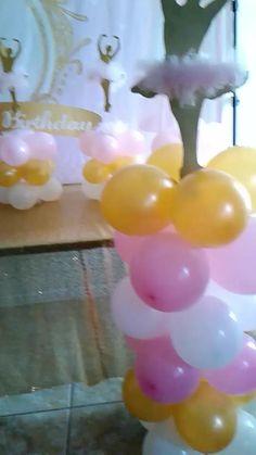 Ballerina Balloon Centerpieces Birthday Party We created balloon garland, columns and centerpieces for a local party here in Deltona, Florida. Balloon Centerpieces, Balloon Garland, Balloon Decorations, Wedding Centerpieces, Balloon Ideas, Ballerina Birthday Parties, Ballerina Party, Ballon Column, Deltona Florida