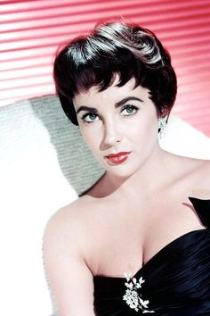 Some days need Elizabeth Taylor and red lipstick.
