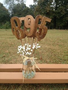 Rustic Wedding Table Numbers - Set Includes Numbers 1-9 - Shabby Chic - Wooden Table Numbers