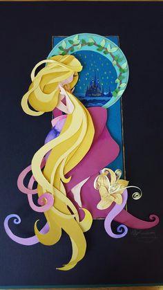 Paper art of Rapunzel