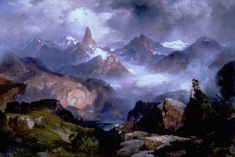 Thomas Moran, Index Peak, Yellowstone National Park, 1914, oil on canvas, 20 x 30 1/4 inches, Private collection