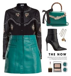 """BLACK/TEAL"" by yexyka ❤ liked on Polyvore featuring Vilshenko, Prada, Gucci, Tom Ford, Charlotte Tilbury, Burberry and Alexander McQueen"