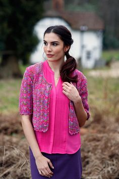 Celestial is a lovely bolero knitting pattern by the internationally acclaimed designer Anniken Allis. This vibrant-colored frock will surely brighten your day. When it comes to free knitting patterns, you can't beat this cardigan's unique styling an