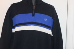 Chaps Mens 1/2 Zip Sweater Blue Size XL #Chaps #12Zip