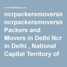 ncrpackersmoversinBest Packers and Movers in Delhi Ncr in Delhi , National Capital Territory of Delhi