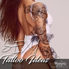 300 Sexy Tattoo Designs - Original by Tattooists Chicano Tattoos, Tribal Tattoos, Cool Tattoos, Greek Wedding Dresses, Rose Tattoos For Women, Russian Tattoo, Original Tattoos, Tattoo Project, Sexy Drawings