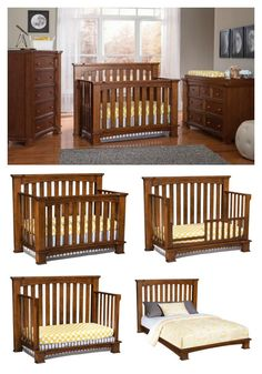 This 4 In 1 Convertible Crib Easily Grows With Your Child Both Size And Style Designed To Convert From A Toddler Bed Daybed
