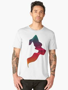 'Wolf siluet design' Premium T-Shirt by Narkusdesign Gifts For Your Boyfriend, Chiffon Tops, V Neck T Shirt, Wolf, Classic T Shirts, Canvas Prints, Hoodies, Fit, Mens Tops