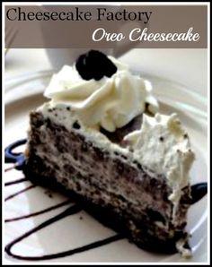 Cheesecake Factory Oreo Cheesecake. Click for the recipe.