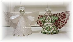 Easy to Make Angel Ornaments | late tuesday night it occurred to me to make these two angels to take ...