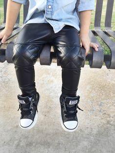 Leather joggers / Posh Kiddos