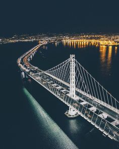San Francisco Bay Bridge by @erwnchow by photoblog.sanfranciscofeelings.com sanfrancisco sf bayarea alwayssf goldengatebridge goldengate alcatraz california