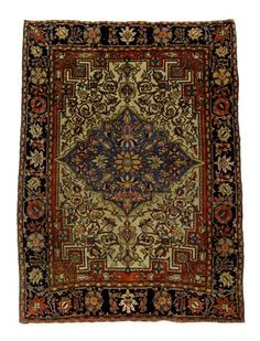 Sarouk Fereghan rug   north persia, circa late 19th century    4 ft. 11 in. x 3 ft. 5 in. - FREEMAN'S
