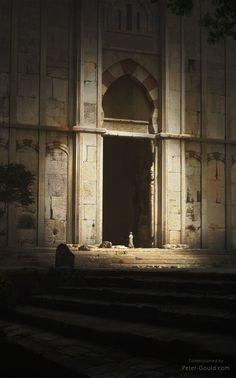 Ruins by waqas malik Environment Concept, Environment Design, Fantasy Places, Fantasy World, Fantasy Concept Art, Fantasy Art, Fantasy Setting, Matte Painting, Painting Art