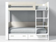 Bunk Bed Designs, Small Bedroom Designs, Small Room Design, Home Room Design, Home Office Design, Bunk Bed Sets, Bunk Beds, Double Deck Bed Design, Inside Doors