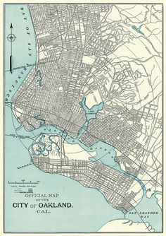 Oakland california chalkboard map art black and white oakland old map of oakland fine archival print vintage city plan publicscrutiny Image collections