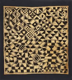 Kuba cloth. Shoowa people. (DR Congo). From the Los Angeles County Museum of Art collection.