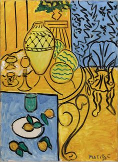 Henri Matisse / Interior in Yellow and Blue / 1946