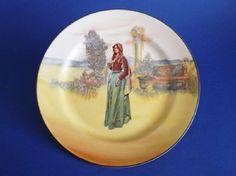 Royal Doulton Shakespearean Characters 'Juliet' Series Ware Rack Plate D3596 c1929