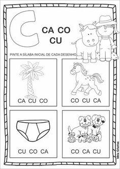 Assim como qualquer outra atividade para a alfabetização, as atividades silábicas letra C também são necessárias em sala de aula, uma vez que trabalhando c
