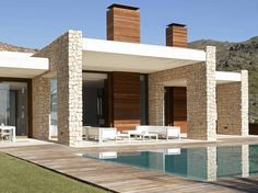 Architecture, Breathtaking Minimalist Pool Houses With Minimalist Home Design