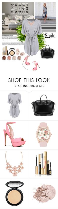 """Shein contest"" by begajeta2309 ❤ liked on Polyvore featuring Givenchy, ALDO, Jessica Carlyle, Yves Saint Laurent, LORAC and Terre Mère"