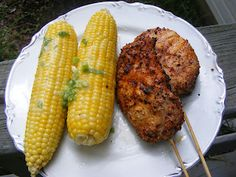 Pork Chops on a Stick with Grilled Corn sporting Green Onion Butter Greek Recipes, Italian Recipes, Mexican Food Recipes, Chinese Recipes, Thai Recipes, Baking Recipes, Australian Food, Australian Recipes, Healthy Dessert Recipes