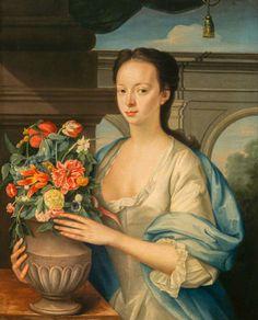 Elizabeth Drummond, Mrs James Stuart by William Mosman, 1740, Collection: National Galleries of Scotland
