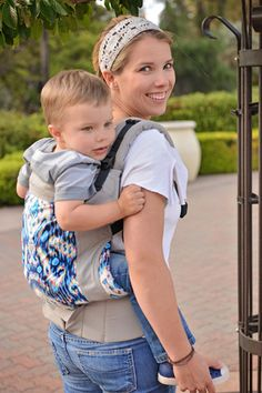 A carrier meant for toddlers, 18 mos - 4+ years! Great for those hikes the little ones can't quite master on their own but after they are too big for the baby carrier.