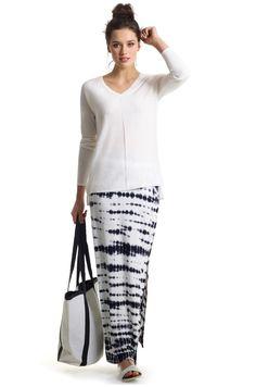 Aubainerie | Chandail en tricot manches longues à ourlet asymétrique