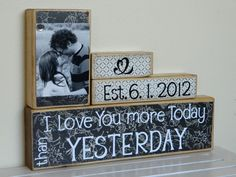 Personalized Wedding gift/Decoration Happily Ever After wedding, shower, anniversary, birthday gift. $25.00, via Etsy.