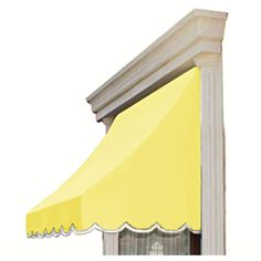 AWNTECH 10 ft. Nantucket Window/Entry Awning (44 in. H x 36 in. D) in Light Yellow