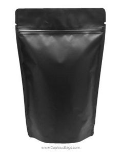 Black Kraft Stand Up Bags provide excellent features like re-sealable zip lock closure, easy to open tear notches, a high barrier foil interior to extend the product shelf life.  Great packaging solution for many products.