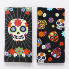 Halloween Sugar Skulls 2-pk. Kitchen Towels - these are really different, but cute kitchen towels designed by my daughter for Kohl's