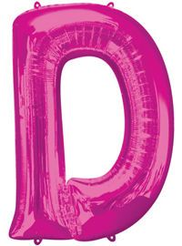 Giant Pink Letter D Ball...