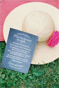 Picnic wedding sign  | Image by CKB Photography, see more http://www.frenchweddingstyle.com/wedding-at-chateau-le-plessis/