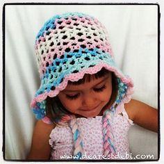 Crochet 3D Easy Bonnet - Toddler - Dearest Debi Patterns