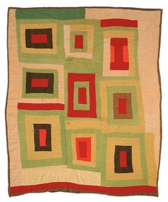 """Lola Pettway, """"'Housetop' variation"""" (circa corduroy fabric, 89 x 74 inches (photo by Stephen Pitkin/Pitkin Studio, Atlanta, courtesy Souls Grown Deep Foundation) Gees Bend Quilts, Deep Foundation, African Quilts, Quilt Modernen, Log Cabin Quilts, Textile Artists, Vintage Quilts, Quilt Making, Quilting Designs"""