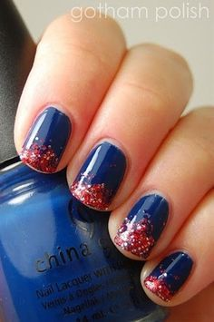 4th of July Nail Art Idea