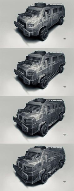Postapo cars - Waggon by hunterkiller
