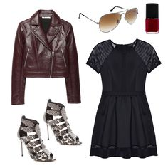 Daytime Date A chic and easy outfit idea for midday drinks or an afternoon hangout, a babydoll frock with ombre aviators and statement sandals makes for a laid-back take on date night style