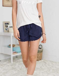 Aerie Shine Boxer , Navy | Aerie for American Eagle