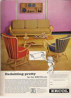 Ercol MCM Furniture   1963, British advert.
