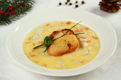 Fish Soup, Soups And Stews, Fish Recipes, Cheeseburger Chowder, Thai Red Curry, Mashed Potatoes, Sweets, Chicken, Baking