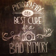 Photography chalk wall art
