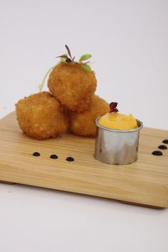 Mac n Cheese Bites Delicious Food doesn't have to be difficult- call AARON's Catering and we will take the burden off you. www.aaronscatering.com #parties #events #weddings