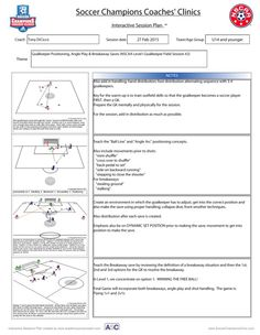 Goalkeeper Positioning, Angle Play & Breakaway Saves http://soccerchampionsclinic.com/pdf/2015sessions/DiCicco_Positioning_Angle_Breakaway.pdf