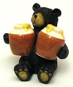 Mid Century Gift  Her Gift for Him Spice Shakers Vintage Salt /& Pepper Shakers Christmas Gift 1950s Japan Bear Cub with Garbage Can